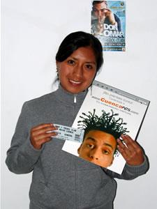 Ganadores de Entradas al Concierto de Don Omar en Cuenca .- Diana Veronica Barbecho Uhzca participo y ganó una entradas al Concierto de Don Omar en Cuenca