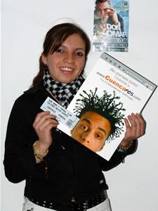 Ganadores de Entradas al Concierto de Don Omar en Cuenca .- Jhoanna Fernanda Castillo Ulloa participo y ganó una entradas al Concierto de Don Omar en Cuenca