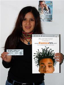 Ganadores de Entradas al Concierto de Don Omar en Cuenca .- Mary Elena Chica Ochoa participo y ganó una entradas al Concierto de Don Omar en Cuenca