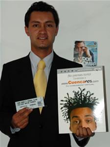 Ganadores de Entradas al Concierto de Don Omar en Cuenca .- Diego Fernando Matute Alvarado participo y ganó una entradas al Concierto de Don Omar en Cuenca