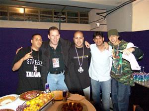 Don Omar en Cuenca .- Flavio Carrión y Gravity Producciones junto a la Agrupación Trébol Clan