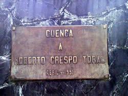 Roberto Crespo Toral .- Inauguración : Abril de 1991. Ubicación : Avenida Solano