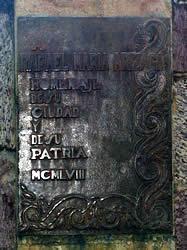Rafael María Arízaga .- Inauguración : Julio 19 de 1958 Ubicación : Av. Solano Autor de la escultura : Daniel Elías Palacio