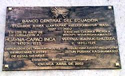 Huayna Cápac .- Inauguración: Abril del 2002 Ubicación: Avenida Huayna Cápac. Sector de Pumapungo Autor de la escultura: Wolfram Palacio Collmann