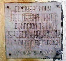José de San Martín .- San Martín fue el ejemplo de la austeridad: alguien le llamó el Santo de la Espada.