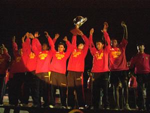 Noche Colorada 2006 .- En la Noche Colorada también se festejó el Titulo de Campeón, obtenido por los de la Sub-18 en el Torneo Apertura