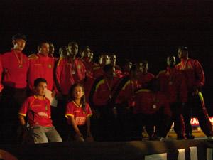 Noche Colorada 2006 .- El Club Deportivo Cuenca, recibio las respectivas distinciones por el Titulo de Sub-Campeon del Torneo Clausura en la Temporada 2005