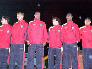 Noche Colorada 2006 .- Entre los nuevos jugadores del Cuenca estan Johnny Pérez, Carlos Gutiérrez, Omar Guerra y Christian Gómez
