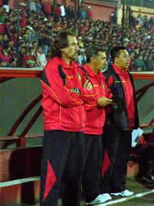 Temporada 2005 .- Patricio Lara, Director Técnico del Deportivo Cuenca en la Temporada 2005