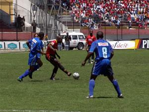 Temporada 2005 .- El domingo 1 de Mayo a las 11h30 en el Estadio Alejandro Serrano Aguilar se jugó el cotejo ante el Club Sport Emelec por la décima primera fecha del Campeonato Ecuatoriano de Fútbol.