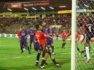 Temporada 2005 .- Los primeros 20 minutos, el equipo colorado se mostró ambicioso y punzante
