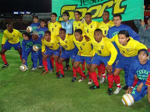 Noche Colorada 2005 .- En la Noche Colorada 2005, el rival del Cuenca saltó a la cancha, La Selección Nacional, que también sintió las ponderaciones de la gente.