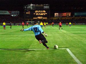 Noche Colorada 2005 .- Damián Lanza arquero de la Selección de Ecuador