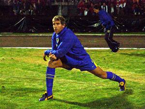 Copa Toyota Libertadores 2005 .- Una de las Grandes Figuras del Boca Júnior, Martín Palermo