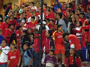 Temporada 2005 .- El Hincha del Cuenca, fiel en la buenas y las malas se da cita en el Estadio Alejandro Serrano Aguilar para apoyar al equipo de sus 'amores' que en esos momentos pasaba por una mala racha