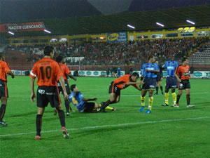 Temporada 2005 .- Cuando aún no se cumplía el primer minuto del encuentro llegaría el gol, a través de César Valdivieso que con un remate al arco marcaría la primera anotación para el Quevedo.