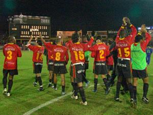 Temporada 2005 .- Los Jugadores morlacos se despiden después de remontar un marcador en contra entre alegría, aplausos y gritos de toda su hinchada fiel