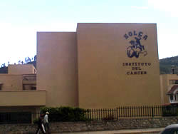 Edificio de Solca .- Solca Sociedad de Lucha contra el Cáncer está ubicado en la Avenida del Paraíso y Agustín Landívar