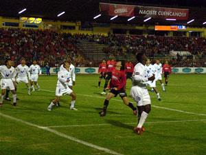 Temporada 2005 .- El Cuenca rompió toda clase de pronósticos, al vencer por 5 tantos a 1 a Liga Universitaria de Quito, plantel que estuvo cargada por jugadores de jerarquía. Un vendaval de goles hizo que los aficionados griten, aplaudan y vibren los 90 minutos de juego.