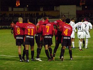 Temporada 2005 .- Una vez mas, el Estadio Alejandro Serrano Aguilar exploto de Alegría y de Júbilo. Deportivo Cuenca Gana 3 a 0 a Liga de Quito