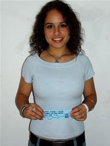 Ganadores de Entradas al Concierto de Alejandro Lerner y Jerry Rivera en Cuenca .- María Eugenia Mancheno, participó y ganó una entrada al Concierto de Alejandro Lerner y Jerry Rivera en Cuenca