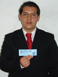 Ganadores de Entradas al Concierto de Alejandro Lerner y Jerry Rivera en Cuenca .- Adrian Rodriguez, participó y ganó una entrada al Concierto de Alejandro Lerner y Jerry Rivera en Cuenca