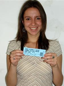 Ganadores de Entradas al Concierto de Alejandro Lerner y Jerry Rivera en Cuenca .- Miriam Andrea Castillo Serrano, participó y ganó una entrada al Concierto de Alejandro Lerner y Jerry Rivera en Cuenca
