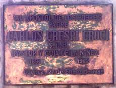 Carlos Crespi .- Nace en Milán en el año de 1891 y muere en Cuenca en 1982. Religioso salesiano.
