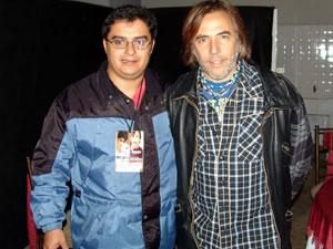 Alejandro Lener en Cuenca .- Alejandro Lerner junto a Enrique Rodas creador de Cuencanos.com