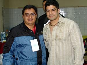 Jerry Rivera en Cuenca .- Jerry Rivera junto a Enrique Rodas creador de Cuencanos.com