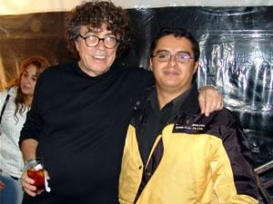 Piero en Cuenca .- Pablo Milanés junto al Ing. Enrique Rodas, Gerente General de Cuencanos.com