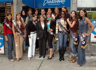 Candidatas a Miss Ecuador 2006 .- Almuerzo de las Candidatas en las Instalaciones de Barlovento