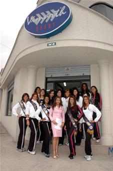 Candidatas a Miss Ecuador 2006 .- Visista de Candidatas a Vismath Sport