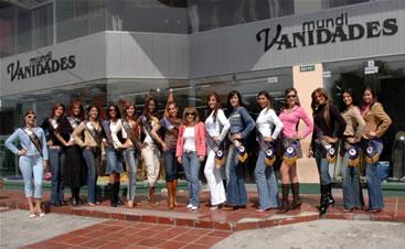 Candidatas a Miss Ecuador 2006 .- Visista de Candidatas a Mindi Vanidades
