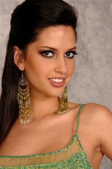 Candidatas a Miss Ecuador 2006 .- Rebeca Flores candidata al certamen de Miss Ecuador 2006