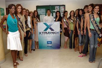 Candidatas a Miss Ecuador 2006 .- Visita de las 15 Candidatas a Xtratech