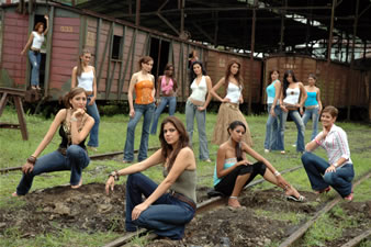 Candidatas a Miss Ecuador 2006 .- Las 15 candidatas en el tren de Bucay