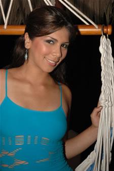 Candidatas a Miss Ecuador 2006 .- Sandra Armijos, en Bucay
