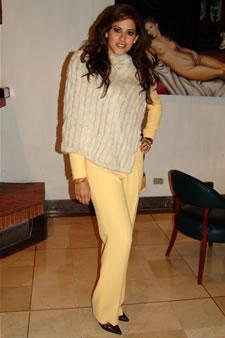 Candidatas a Miss Ecuador 2006 .- Estefanía Iturralde candidata al certamen de Miss Ecuador 2006 en su arribo a la Ciudad de Cuenca