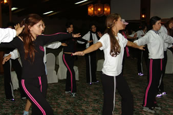 Candidatas a Miss Ecuador 2006 .- Todas ellas ponían su concentración al máximo para que la noche de la elección fuera inolvidable