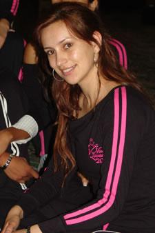 Candidatas a Miss Ecuador 2006 .- María Augusta Gortaire durante los ensayos de coreografía para el evento Miss Ecuador 2006
