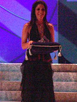 Eleccion Miss Ecuador 2006 .- Daniela Kronfle diseñadora de la Corona de Miss Ecuador