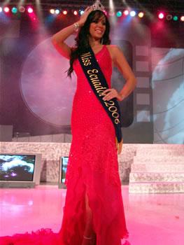 Eleccion Miss Ecuador 2006 .- Katty López, guayaquileña de 22 años, Modelo Profesional, estudiante de en Marketing y Ventas fue designada Chica Sedal, Sonrisa Trident y Miss Ecuador 2006.