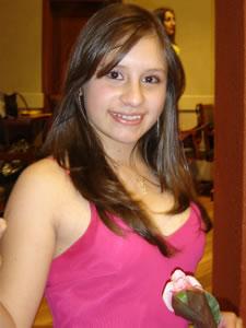 Candidatas a Morlaquita 2006 .- Andrea Vélez Astudillo, candidata a Morlaquita 2006, representando al Colegio Sagrados Corazones