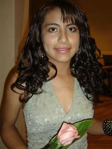Candidatas a Morlaquita 2006 .- Gabriela Vásquez Ortiz, candidata a Morlaquita 2006, representando al Colegio Santa Ana