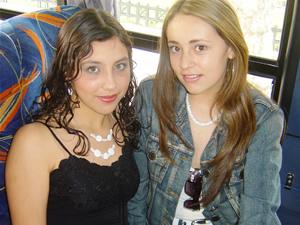 Candidatas a Morlaquita 2006 .- Paola Durazno y Cristina Jaen Barahona, candidatas a Morlaquita 2006, representando al Colegio Sagrados Corazones