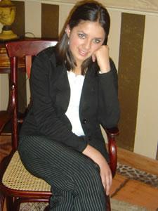 Candidatas a Morlaquita 2006 .- Diana Cárdenas Jara, candidata a Morlaquita 2006, en la secion de fotos en los Jardines de San Joaquin