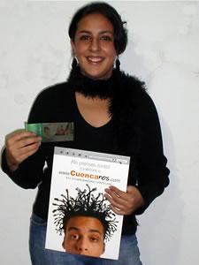 Ganador de una entrada al concierto Tour Por La Vida .- Judith Araceli Vaca Amoroso, participo y ganó una entrada al Concierto al Concierto Tour Por La Vida en Cuenca