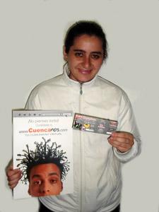 Ganadores de Entradas al Concierto de Tony Meléndez en Cuenca .- María Cristina Landivar Tamaríz, participo y ganó una entradas al Concierto de Tony Meléndez en Cuenca