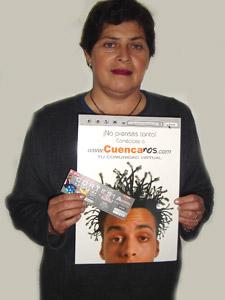Ganadores de Entradas al Concierto de Tony Meléndez en Cuenca .- Esperanza Zabala Campoverde, participo y ganó una entradas al Concierto de Tony Meléndez en Cuenca